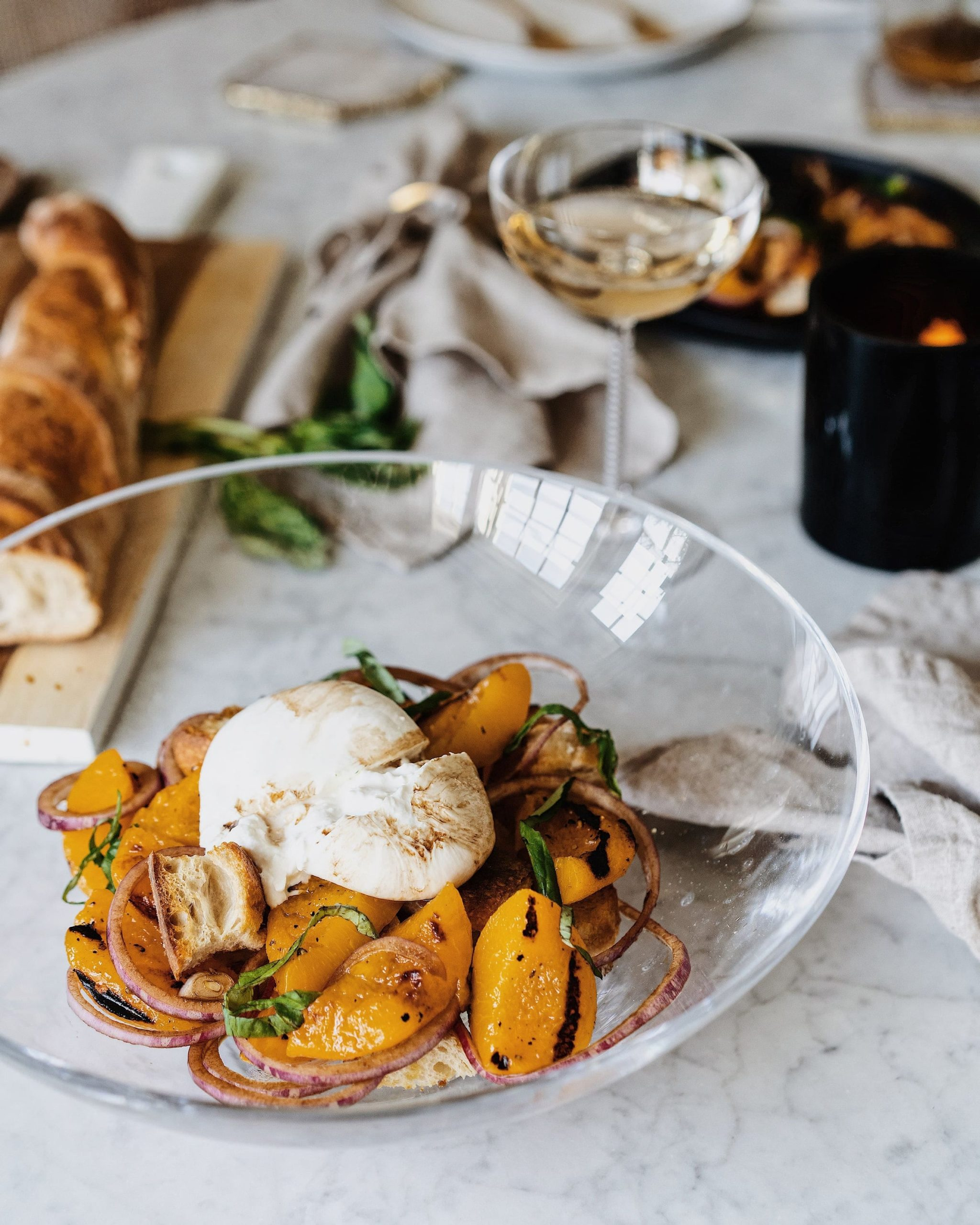 Peach and Burrata Salad