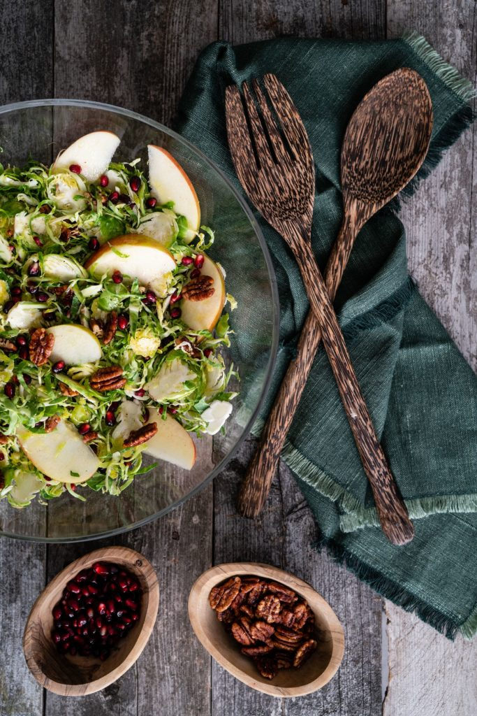 Shaved Brussel Sprouts Salad With Lemon Honey Vinaigrette