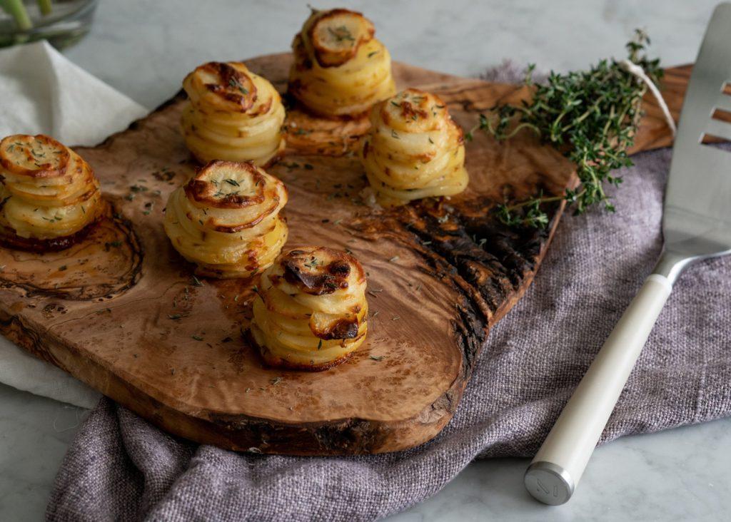 Parmesan & Thyme Potato Stacks