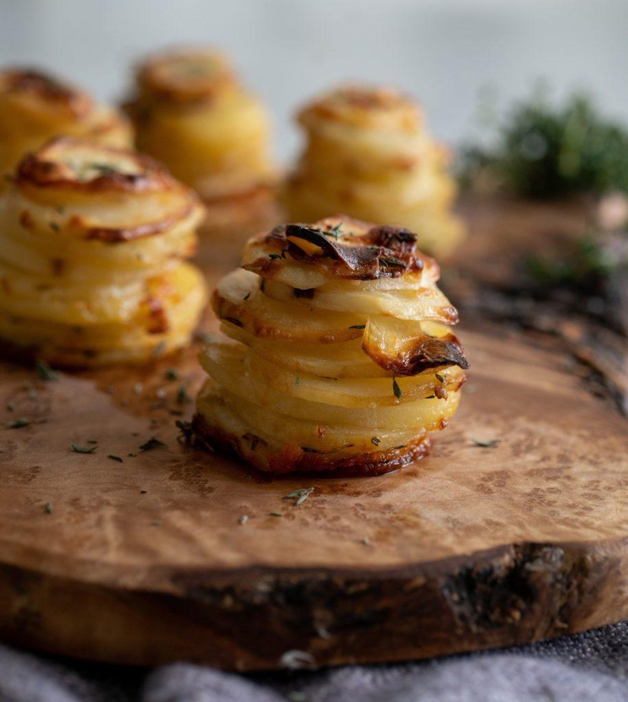 Thyme & Parmesan Potato Stacks