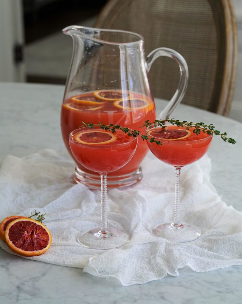Blood Orange & Pineapple Prosecco Punch